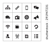 communication icons universal... | Shutterstock . vector #291947231