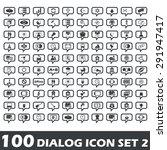100 dialog icons set 2