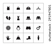 clothes icons universal set for ... | Shutterstock . vector #291947801