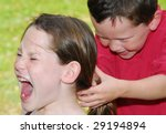 young children fighting and... | Shutterstock . vector #29194894