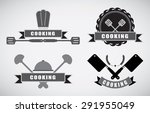 cooking labels set with cooking ... | Shutterstock .eps vector #291955049