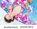 Woman Taking A Spa Bath In A...