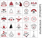 christmas icons and elements... | Shutterstock .eps vector #291960491