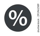 percent symbol in black circle  ...