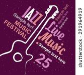 vector poster for a concert... | Shutterstock .eps vector #291964919