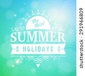 summer holidays enjoy... | Shutterstock .eps vector #291966809
