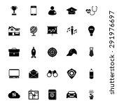 job description icons on white... | Shutterstock .eps vector #291976697