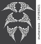 set of wings | Shutterstock .eps vector #291983021