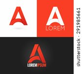 letter a logo design icon set... | Shutterstock .eps vector #291985661