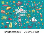 a big hand drown colorful set... | Shutterstock .eps vector #291986435