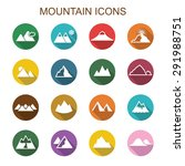 mountain long shadow icons ... | Shutterstock .eps vector #291988751