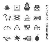 cyber crime icons  mono vector... | Shutterstock .eps vector #291988775
