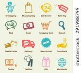 shopping elements  vector... | Shutterstock .eps vector #291988799