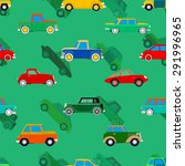 seamless wallpaper of cars.... | Shutterstock .eps vector #291996965