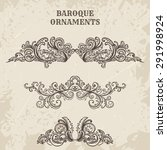 antique and baroque cartouche... | Shutterstock .eps vector #291998924