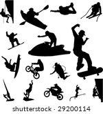 extreme sport   vector   Shutterstock .eps vector #29200114