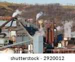 Steel mill - stock photo