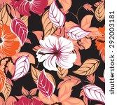 seamless vector floral pattern. ... | Shutterstock .eps vector #292003181