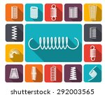 metal spring icons colored... | Shutterstock .eps vector #292003565
