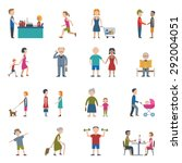 people lifestyle man and woman... | Shutterstock .eps vector #292004051