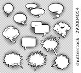 comic speech bubbles icons... | Shutterstock .eps vector #292004054