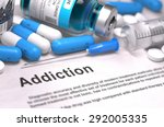 diagnosis   addiction. medical... | Shutterstock . vector #292005335