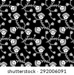 seamless floral pattern on a... | Shutterstock .eps vector #292006091