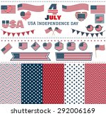 set of usa independence day... | Shutterstock .eps vector #292006169