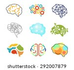 brain icon set vector... | Shutterstock .eps vector #292007879