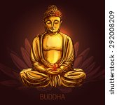 buddha god sitting in lotus...   Shutterstock .eps vector #292008209