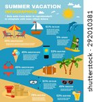 summer and sea infographic set... | Shutterstock .eps vector #292010381