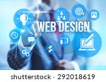 web design service concept... | Shutterstock . vector #292018619