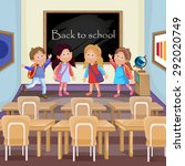 illustration of kids in... | Shutterstock . vector #292020749
