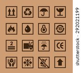 set icons cardboard | Shutterstock . vector #292021199