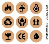 cardboard icons set collection | Shutterstock . vector #292021235