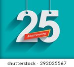 25 anniversary numbers with... | Shutterstock .eps vector #292025567