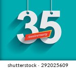 35 anniversary numbers with... | Shutterstock .eps vector #292025609