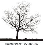 silhouette cherry tree black... | Shutterstock .eps vector #29202826