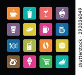 cafe icons universal set for... | Shutterstock . vector #292036049