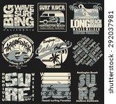 Surf Typography Label Set ...