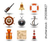 marine travel realistic icons | Shutterstock .eps vector #292038827