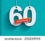 60 anniversary numbers with... | Shutterstock .eps vector #292039955
