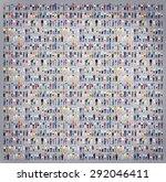 multiethnic casual people... | Shutterstock . vector #292046411
