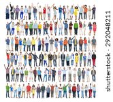 people diversity success... | Shutterstock . vector #292048211