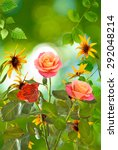 image of  beautiful flowers on... | Shutterstock . vector #292048214