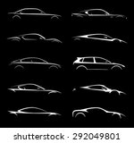 Stock vector concept vehicle silhouette vector collection 292049801