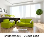 3d rendering of a white... | Shutterstock . vector #292051355