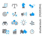 strategy and business icon set | Shutterstock .eps vector #292053941