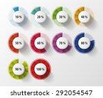 percentage diagram presentation ... | Shutterstock .eps vector #292054547