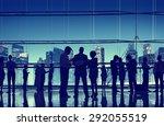 business people talking... | Shutterstock . vector #292055519